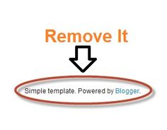 How to Remove Powered by Blogger Option from a Blog?
