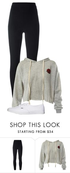 """3"" by mziecellerino ❤ liked on Polyvore featuring Yeezy by Kanye West, Sans Souci and Vans"