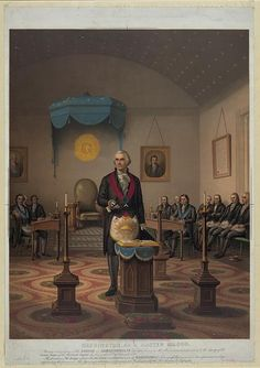 Another image of President George Washington as a master Mason, this one from 1870.