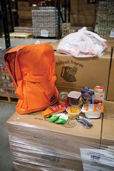 The CFBEO's Food for Kids Backpack Program sends backpacks of food home with students at risk of going hungry over the weekend.