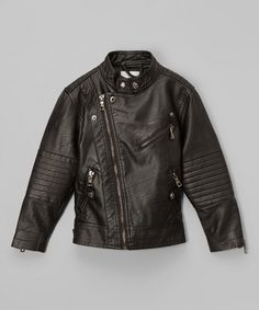 Look at this Black Motorcycle Jacket - Toddler & Girls on #zulily today!