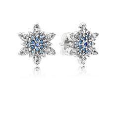 Crystalized Snowflake, Blue Crystals & CZ - 290590NBLMX - Earrings   PANDORA
