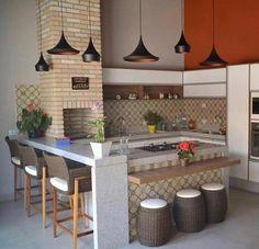 Interior Living Room Design Trends for 2019 - Interior Design Outdoor Kitchen Design, Patio Design, House Design, Kitchen Nook, Kitchen Decor, Small Open Kitchens, Sweet Home, Built In Grill, Design Moderne