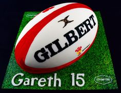 Rugby Ball Cake Cardiff Baker, Scrumptons Cakes and their incredible celebration cakes. There are cakes for every occasion including: anniversary, birthday, Easter, Halloween, Father's Day, Mother's Day, Valentines Day, Occasion Cakes, Graduation Cakes, Christmas Cakes. Subjects include: Cars, Star Wars, Dinosaurs, Animals, Harry Potter, Superheroes, Handbags, Basketball, Rugby Ball, Dr Who.