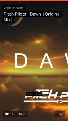 Dawn is a collaboration between Will Norgrove and British producer Dan Judge.