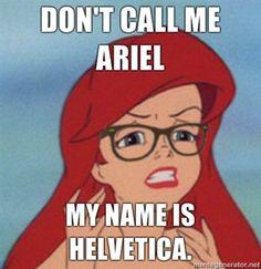 ariel!! not helvetica!!