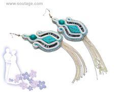 Ninotchka handmade soutache earrings with от SoutageAnka на Etsy