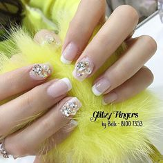 """Crystals × Pearls for the bride  // #GlitzyFingers #bridalnails #weddingnails #sgwedding #notd #sgbrides #bridal #frenchnails #frenchmanicure #nailoftheday #customnailart #prettynails"" Photo taken by @glitzyfingers on Instagram, pinned via the InstaPin iOS App! http://www.instapinapp.com (07/05/2015)"