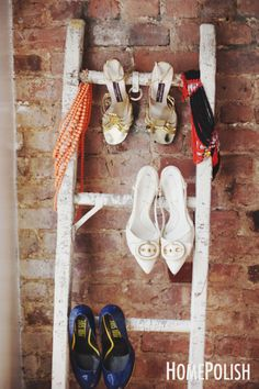 An easy #DIY shoe rack! Perfect for showcasing your favorite heels.