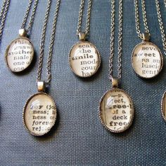 I could pick a word that describes each bridesmaid and giive the necklace as a gift.