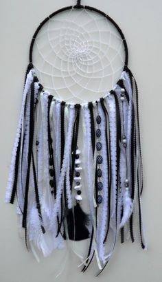 Dream Catcher Black and White Ribbon by TheCrazyPumkinPatch on Etsy