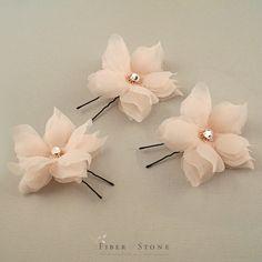 Swarovski boda cabello flores flores de novia flores por FiberStone