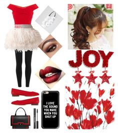 """""""Reddened Joy"""" by princessugar ❤ liked on Polyvore featuring Polo Ralph Lauren, Balmain, Mansur Gavriel, Givenchy, Casetify, Full Tilt, Pin Show, National Tree Company, simplechic and newlifestyle"""
