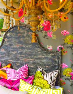Oh hang me a chandy right over my head and flowery wallpaper surrounding my bed....
