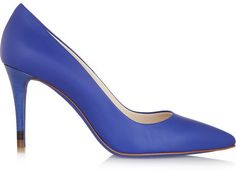 $700, Blue Leather Pumps: Fendi Leather Pumps. Sold by NET-A-PORTER.COM. Click for more info: https://lookastic.com/women/shop_items/146109/redirect