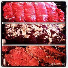 Garlic, Rosemary Moose Roast with red wine gravy. Easy and delicious recipe. Moose Roast Recipe, Great Recipes, Favorite Recipes, Game Recipes, Recipe Ideas, Recipies, Dinner Recipes, Foul Recipe, Moose Recipes