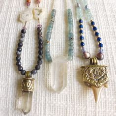 All three necklaces are available- and created with intention. Chock full of positive energy and ready to go on your adventures!