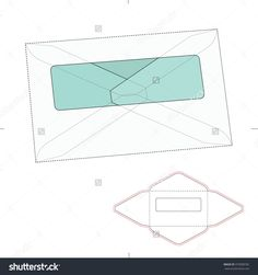 Windowed Envelope With Die Cut Template Stock Vector Illustration 370908782 : Shutterstock
