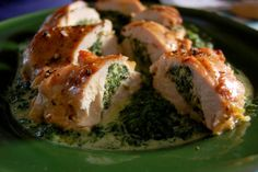Chicken breast filled with spinach and wallnuts #chicken #food #oven #spinach #wine #italian #home #nicephoto #yummy #sons #mozzarella
