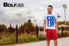 weißes T-shirt Stegol: https://www.bolf.de/t-shirt-stegol-p570-weiss/a-7108/ rote Shorts S-Club: https://www.bolf.de/shorts-s-club-s3b-rot/a-9326/