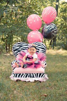 Pink and Black Zebra 1st Birthday Tutu / by GigglesandWiggles1