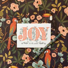 Stockists of the best range of Rifle Paper Co Stationery & Cards in the UK. Beautiful illustrations and attention to detail make their stationery truly unique! Christmas Gift Wrapping, Christmas Cards, Rifle Paper Company, Joy To The World, Christmas Is Coming, Stationery, Parlour, Illustration, Instagram
