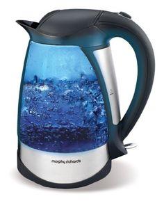 Morphy Richards 43128 Bouilloire électrique 1,7 litre 2200 W Sans fil Illumination bleue pendant l'ébullition Verre teinté Morphy Richards http://www.amazon.fr/dp/B001KXE7KA/ref=cm_sw_r_pi_dp_TU5qub08Z9DWP
