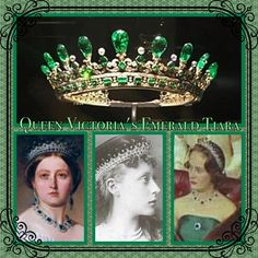 1st May and today's tiara is Queen Victoria's Emerald tiara which was designed for her by Prince Albert. The beautiful piece has only been photographed or painted a handful of times. Today it belongs to the Duke of Fife, and was last worn by his mother at the State Opening of Parliament in the early 1960s. Prince Phillip's grandmother, Princess Victoria of Hesse was also photographed wearing it. It has some beautiful accompanying jewels.