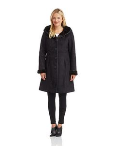Women's Clothing   50% off Coats   Faux Fur Shearling Coat   Lord and Taylor