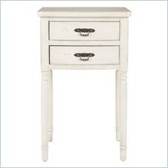 Safavieh Cindy Poplar Wood End Table in White