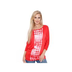 Women's White Mark Dolman Tunic, Size: Large, Red