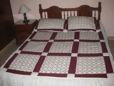 Chicken Scratch Embroidery, Ideas Hogar, Bed Spreads, Decoration, Sewing Projects, Quilts, Crafts, Furniture, Masons