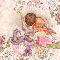 The Fairy and the Wizard - Digital Stamp - $3.00 : Digital Stamps, Scrapbooking, Crafts, Artisan Resources, cardMaking, Paper Crafts, Digital Crafting by The Paper Shelter