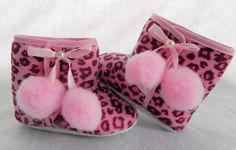Pink Cheetah / Leopard Baby Boots by AddisonAvenueBoutique for $10.50
