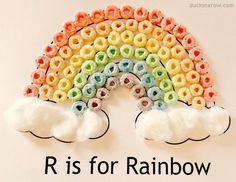 Ducks 'n a Row: R is for Rainbow - Preschool Craft Fun!  The Ultimate Pinterest Party, Week 88