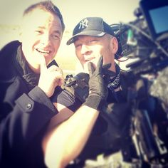 """Tony Mortimer while shooting new video """"Counting Clouds""""  (Camber beach)  (photo by Beth Alderson)"""