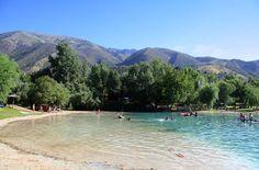 Zahara de la Sierra. Fantastic little lake near Zahara de la Sierra -Spain