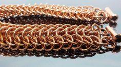 Copper bracelet hand made using the Dragonback chain by JoyasSuri