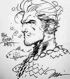 AQUAMAN sketch   Jim Lee