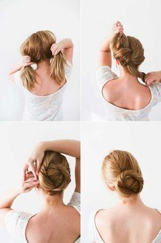 Best Hairstyles for Summer - DIY Twisted Bun Hair Tutorial - Easy and Cute Hair Styles for Long, Medium and Short hair - Whether you have Black or Blonde Hair, Check Out The Best Styles from 2016 and 2017 - Tutorial for Braided Updo, Cute Teen Looks, Casual and Simple Styles, Heatless and Natural Looks for the Wedding - thegoddess.com/healthy-desserts-to-try