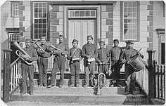 Metlakatla Brass Band, first adult First Nations brass band in BC, 1881.