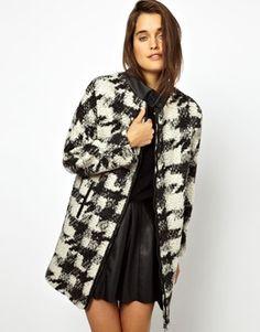 ASOS Check Wool Coat