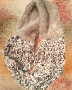 Faux Fur with hand knit loop by Jamie Kreitman