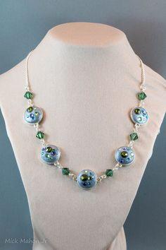 Unique Swarovski Crystal link style necklace