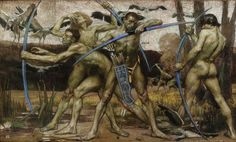 Archers. 1895.   Georges Desvallieres. French 1861-1950. pastel. Musee d'Orsay.