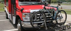 All Radford Transit buses are equipped with a bike rack on the front of the vehicle.
