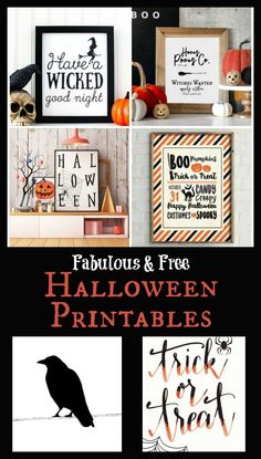 My Favorite Free Halloween Printables - Easy Halloween Decor - Real Time - Diet, Exercise, Fitness, Finance You for Healthy articles ideas Halloween Tags, Retro Halloween, Halloween Prints, Holidays Halloween, Halloween Quotes, Happy Halloween, Halloween Makeup, Halloween Party, Printable Halloween Decorations