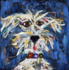 Mixed Media dog by Beeb Benson