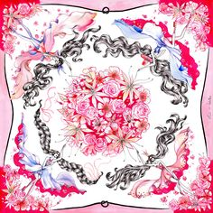 Allistration :: Bouquet Scarf Design