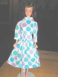 Vintage Brunette Straight Leg Barbie's Friend Midge in OOAK dress #Mattel #DollswithClothingAccessories